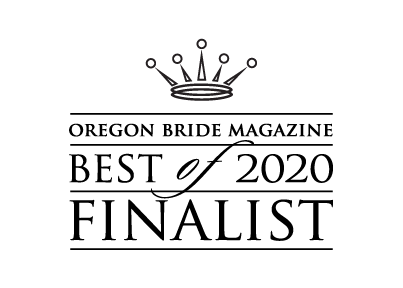 Oregon Bride Magazine 2020 Best Wedding DJ Nomination Badge